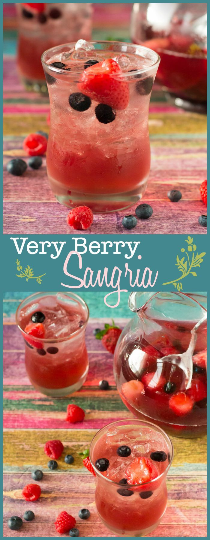 Bursting with strawberry, blueberry, and raspberry flavor, this super easy sangria is just the thing to relax with!