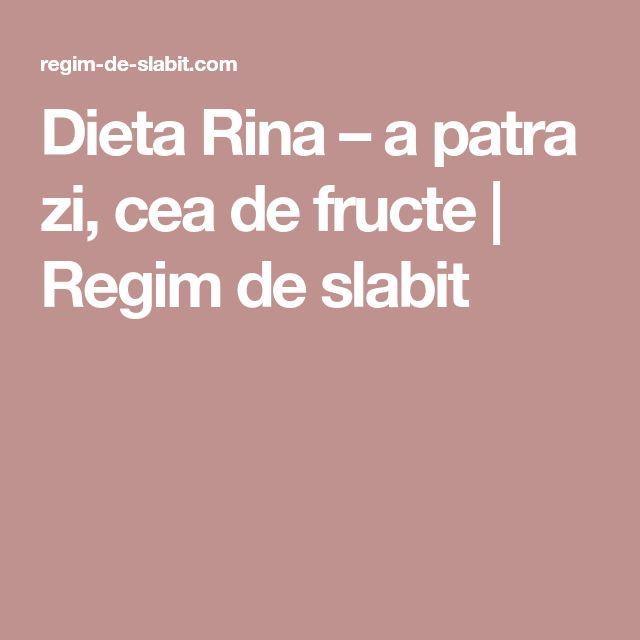 Dieta Rina – a patra zi, cea de fructe | Regim de slabit