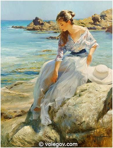 "ri - ""Santa Cristina"", oil on canvas, 2014. Artist: Vladimir Volegov"