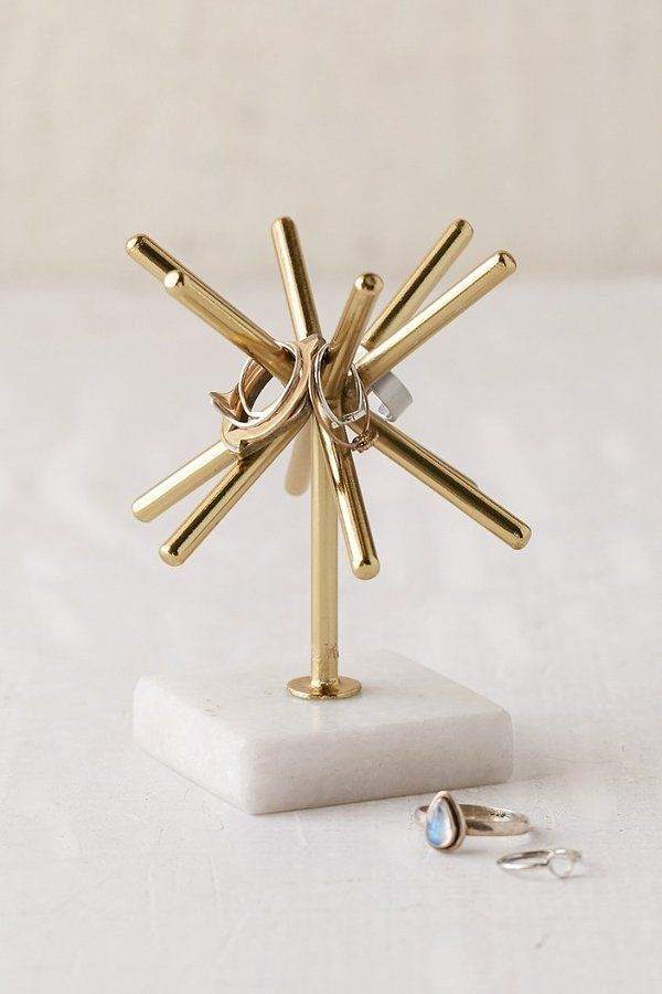 For my vanity.  Sunburst Marble Ring Stand