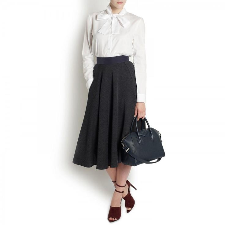 Bicol flared wool blend skirt //Harvey Nichols ~so pilgrim chic