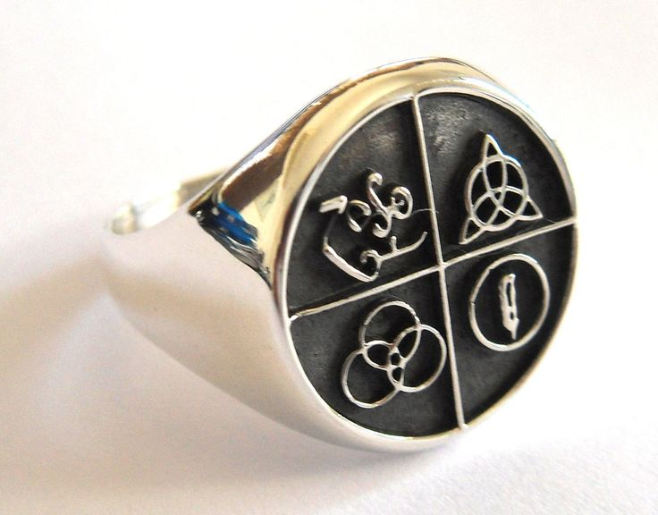 Led Zeppelin Band Four Symbol Silver 925 Ring by vikigreen on Etsy