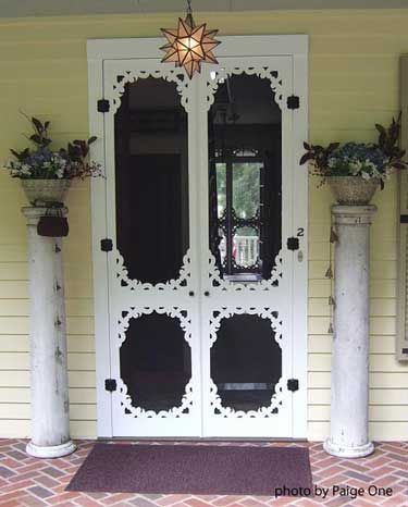 Wooden Screen Door & 126 best Screen Doors images on Pinterest | Cottage Vintage screen ...