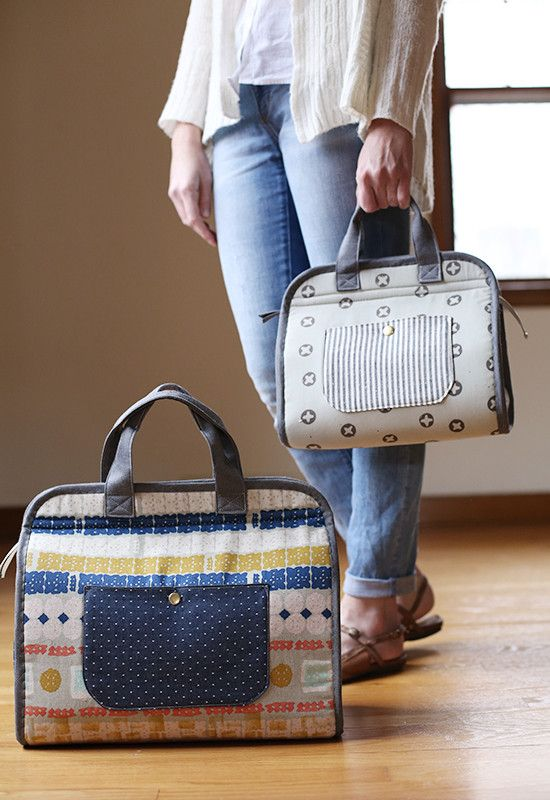 carry-all tote is for the makers, the creatives, and the go-getters. It's my spin on a classic doctor's bag, but designed with handy on-the-go storage in mind. Perfect for kids and adults alike, this tote will be sure to keep whatever you need close at hand and organized.