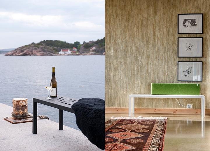 Bruk både Sundays benk inne og ute!  #hage #uterom #utemøbler #norskdesign #sundays #sundaysdesign #hagemøbler