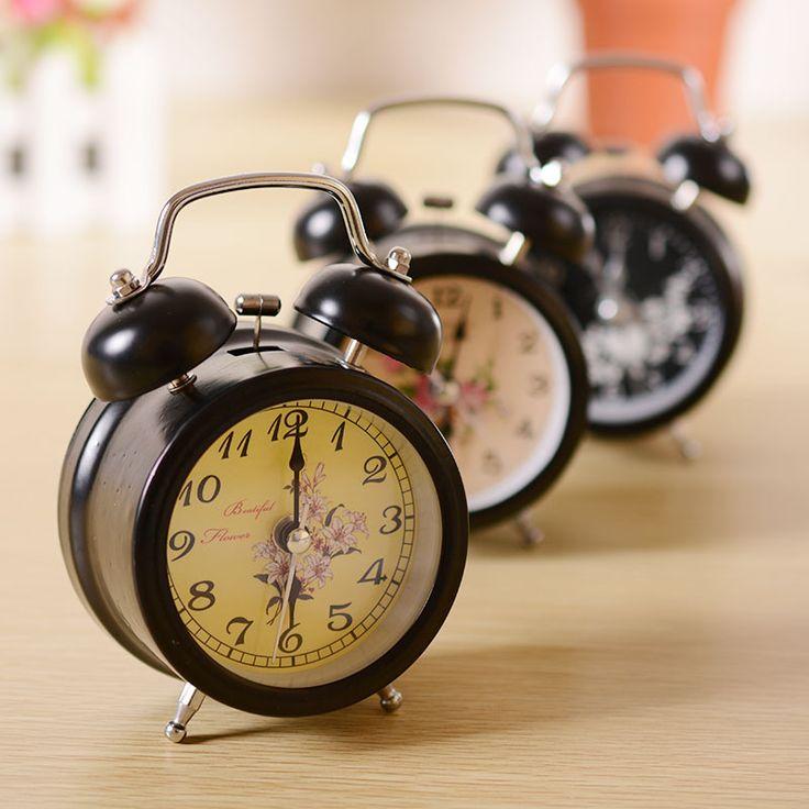 Винтажный Стиль Беллинг Сигнализация Классический Круглый Дизайн Настольные Часы Колокол Детский Праздник Подарок На День Рождения Украшения sw314