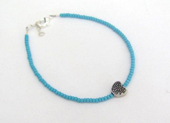 Valentine Bracelet Heart Friendship Bracelet by MissCecesJewels