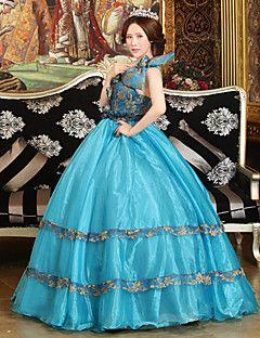 steampunk®georgian blu abito abito partito vittoriano Maria Antonietta rococò wholesalelolita abiti da sera