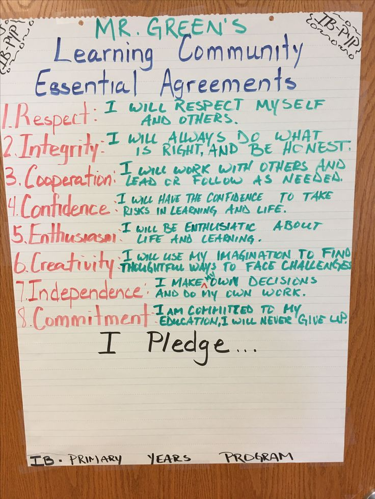 Best Essential Agreements Images On   Classroom Ideas
