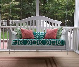 Porch swing from old crib