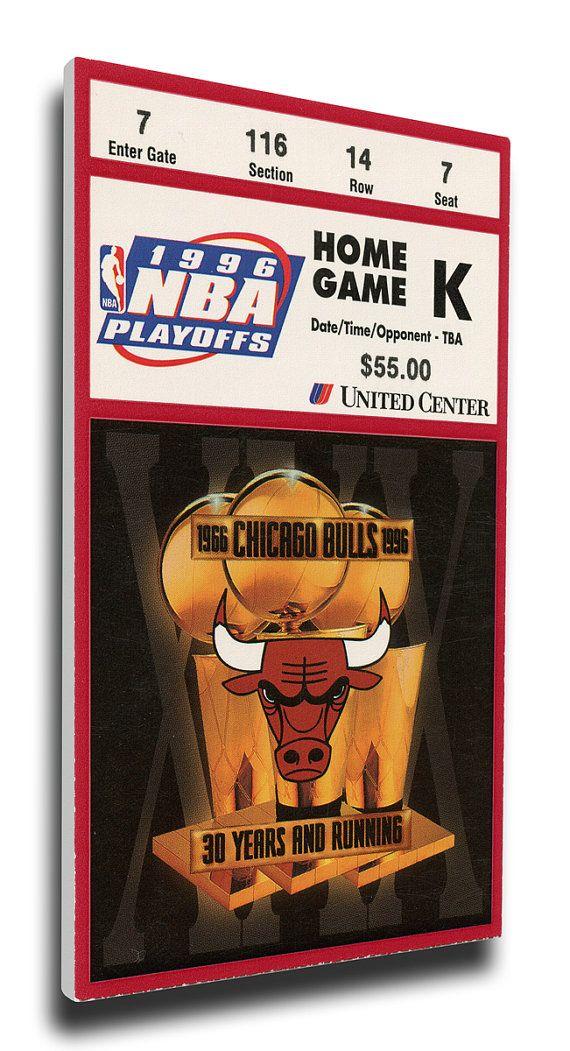 1996 NBA Finals Canvas Mega Ticket, Game 5 - Chicago Bulls