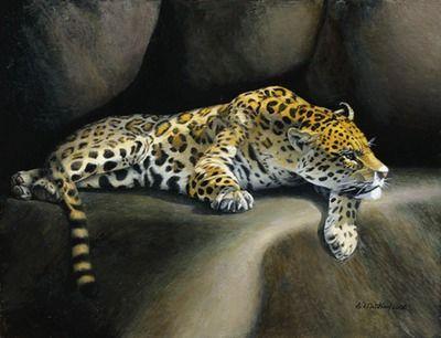 Imfpa A Cheetah Painting Contemporary Wall Art on Shimply.com