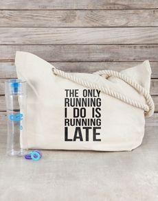 activewear: Personalised Running Late Beach Bag Kit!