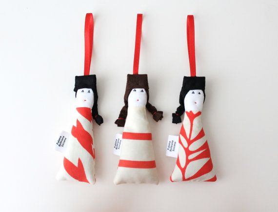 SET OF 3 lavender sachets mini dolls upcycled by FulBelSic