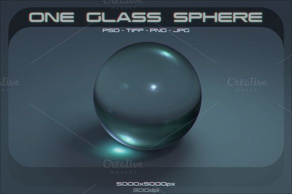 One Glass Sphere by stallfish's art store on @creativemarket
