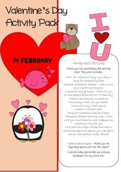 valentine's day games esl