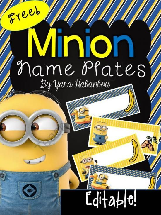 Free Editable Name Tags Minions from SeaofKnowledge on TeachersNotebook.com -  (7 pages)  - Free Minion Editable Name Tags: These name tags are ideal for using at the beginning of the year, on field trips and when substitute teachers are in the room. Additionally, they are great as labels to