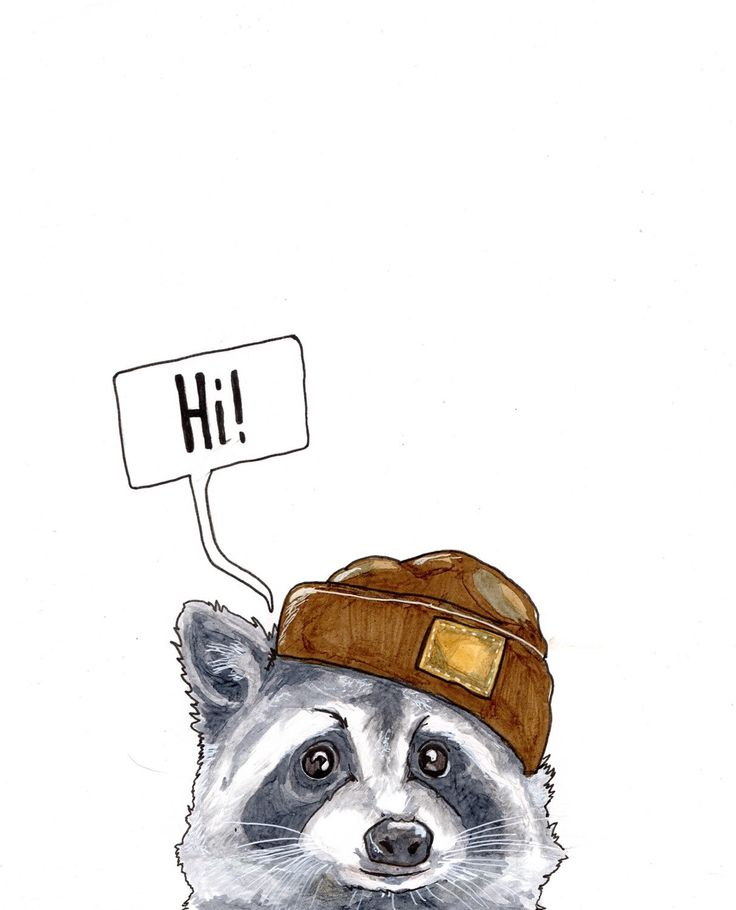 A personal favourite from my Etsy shop https://www.etsy.com/uk/listing/257938652/the-curious-raccoon-archival-print