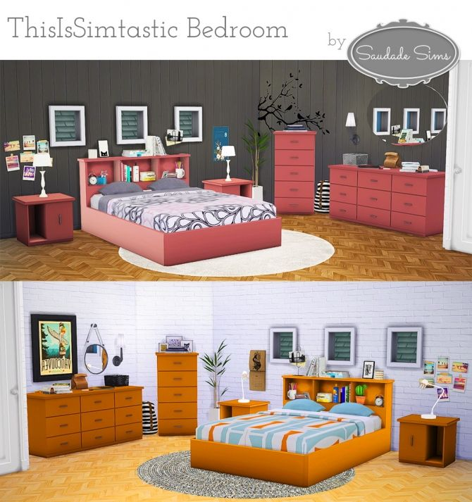 ThisIsSimtastic bedroom at Saudade Sims via Sims 4 Updates