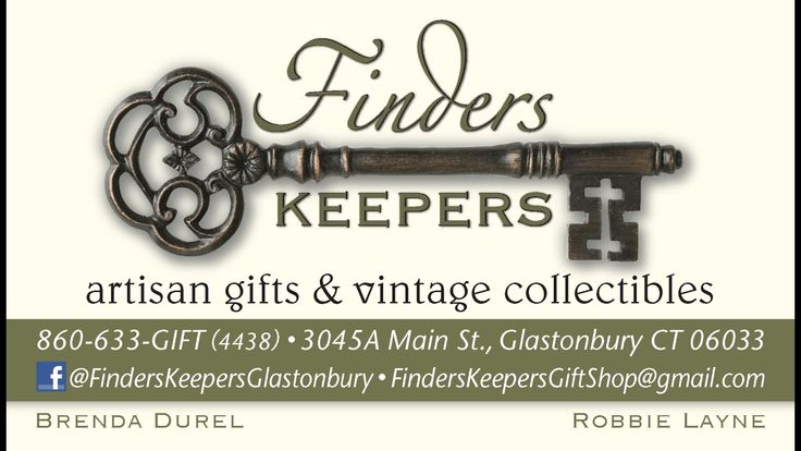 Finders Keepers has opened in Glastonbury, Connecticut. Vendor spaces available now! Reasonable rates and spaces for every budget. Fine gifts and crafts hand...