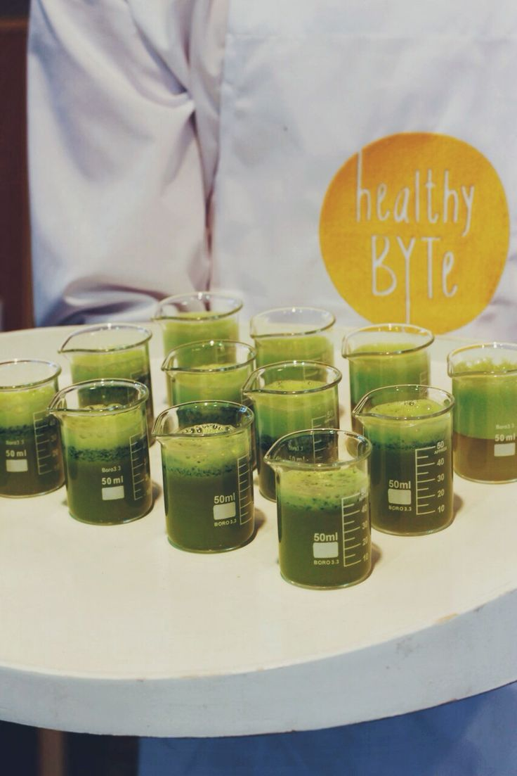 HealthyBYTe power shots! Pineapple, spinach, orange, lemon and lime x