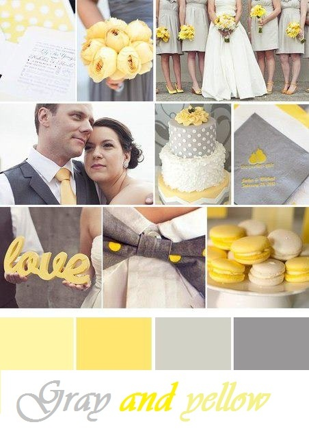 Ideas for wedding day ... Gray and yellow
