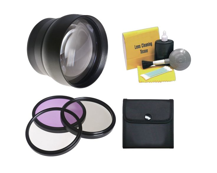 58mm 2.2x Super Telephoto Lens (Stronger Alternative To Olympus TCON-17) + Stepping Ring 55mm-58mm + 55mm 3 Piece Filter Kit, Includes Ultraviolet, Polarizer & Fluorescent + Nwv Direct 5 Piece Cleaning Kit. The Titanium Optics multi-coated 2.2X lens for 58mm & 55mm diameter is a professional grade, telephoto converter that increases the angle of view by more than double, allowing the video or digital camera to take breathtaking long distance shots. This high-speed, fully automatic lens...
