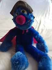 Vintage Super Grover Plush Sesame Street General Store With Original Tags