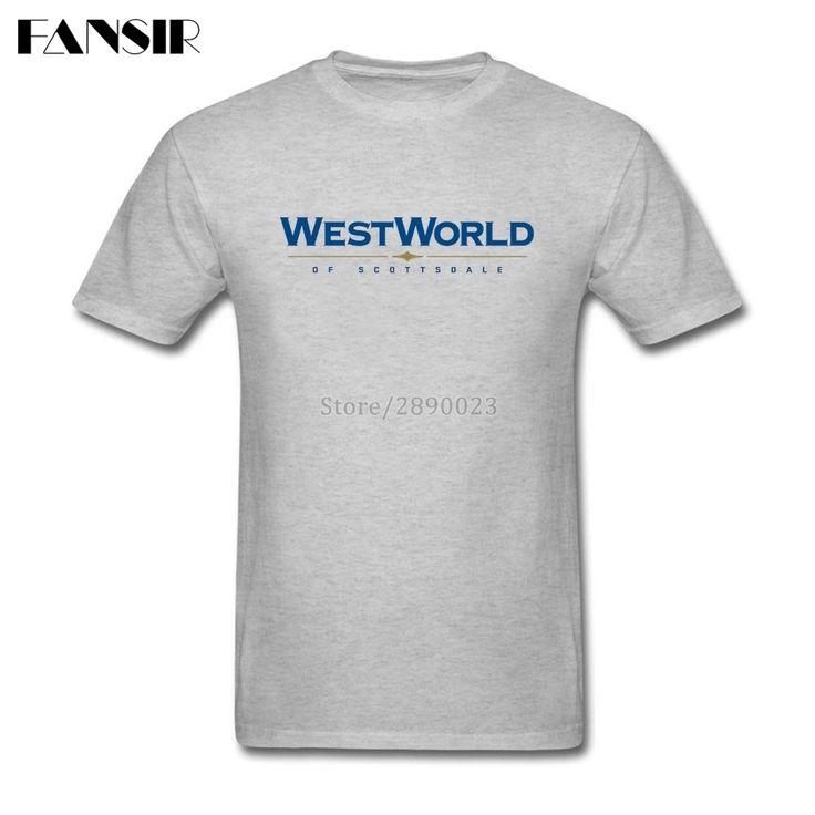>> Click to Buy << Best Design Tee Shirts Men Man's Custom Cotton Short Sleeve Westworld Of Scottsdale Logo Family Tops Clothing Men T-shirt #Affiliate