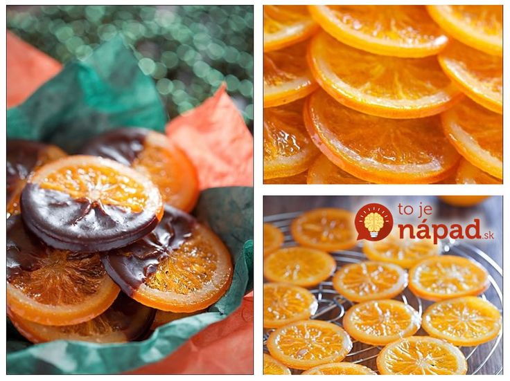 Karamelizované pomaranče v čokoláde
