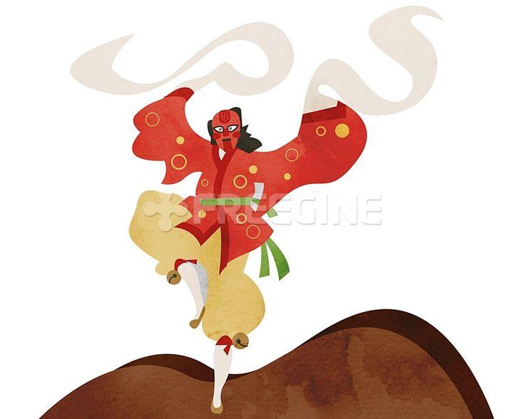 사람, 라이프, 문화, 한국, 생활, 춤, 무용, 일러스트, freegine, 전통, illust, 한복, 문화재, 캐릭터, 탈춤, 봉산탈춤, 한국전통, 1인, 에프지아이, FGI, SPAI129, SPAI129_001, 한국전통001 #유토이미지 #프리진 #utoimage #freegine