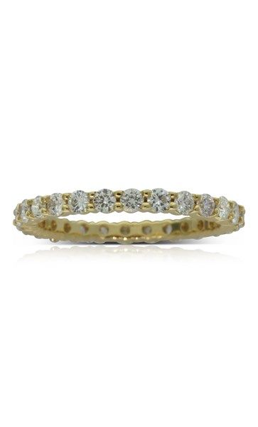 18ct yellow gold 1.04ct diamond eternity ring