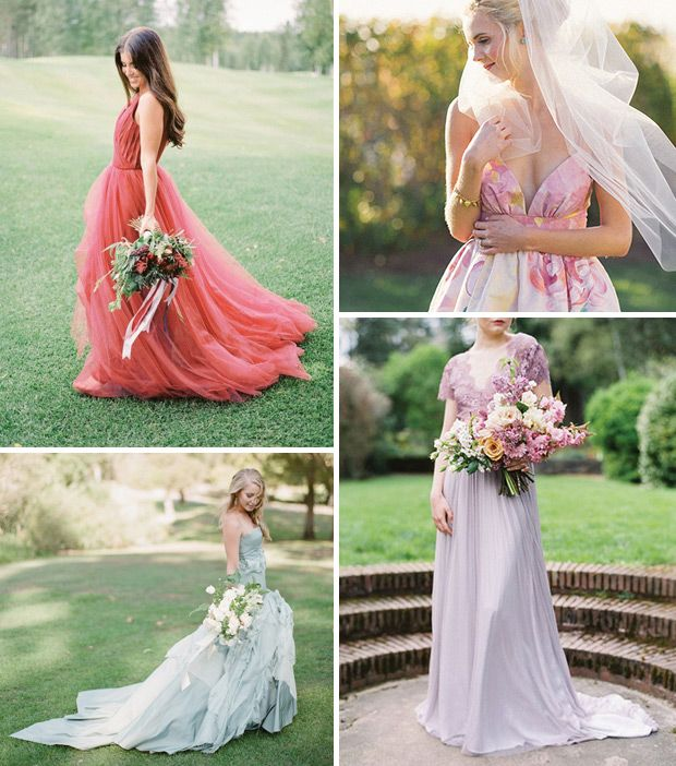 Coloured Wedding Dresses the hot bridal trend for weddings in 2016 | www.onefabday.com