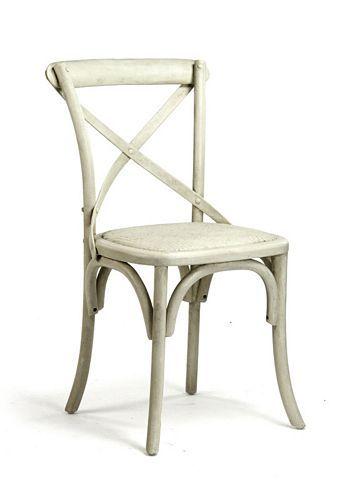 Zentique Parisienne Cafe Chair French Antique Off White