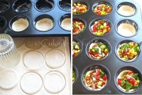 » Mini-tarte cu legume si suncaCulorile din Farfurie