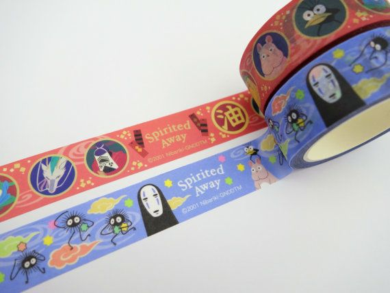 2 Spirited Away Japanese washi tape rolls Studio by 2FooDogs
