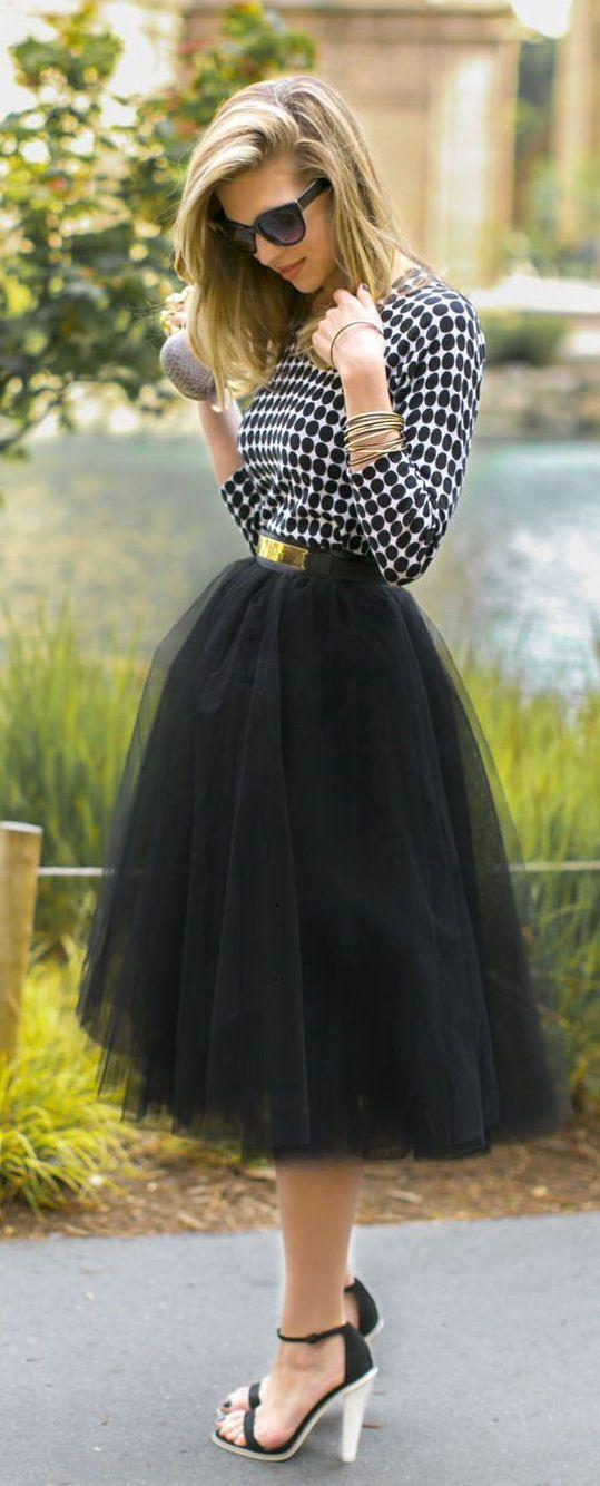 Amore Tulle Skirt // Black & White