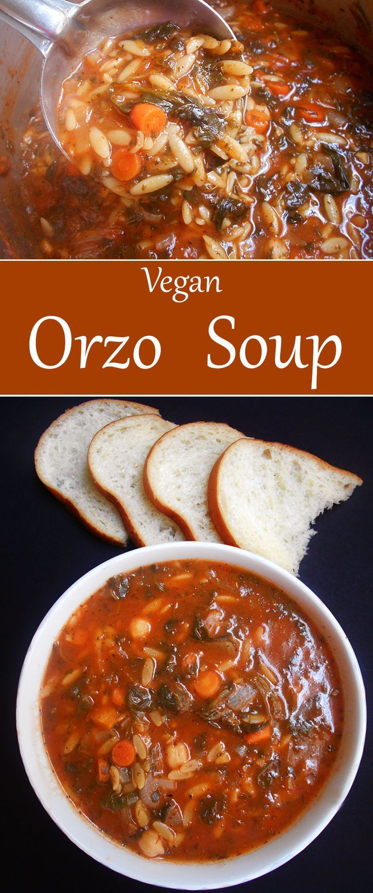 Make this hearty vegan orzo soup when you are looking for easy soup recipes. It is a healthy soup recipe that is perfect comfort food for cold winter nights. Perfect meal idea for vegetarians.