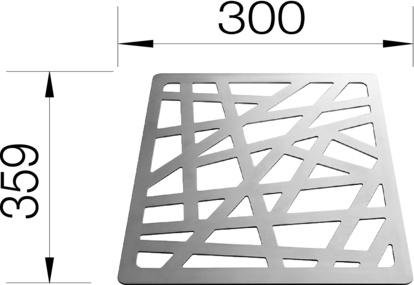 Strukturunderlägg Blanco - Rostfritt stål