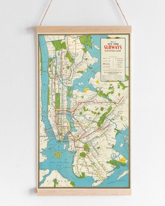 Antique New York City Map Print for Digital Download. Printable Map on
