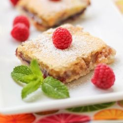 Buttery, sweet-and-tart lemon squares with a layer of raspberry jam!Cookies Bar, Birds Baking, Willow Birds, Raspberries Squares, Desserts Food, Lemon Squares, Squares Willow, Baking Sweets, Lemon Raspberries