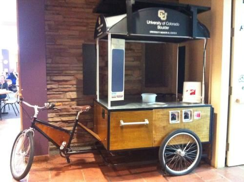 The University of Colorado plans to roll out its new coffee cart this summer. The bike-lead cart was designed and built by Boulder's B...