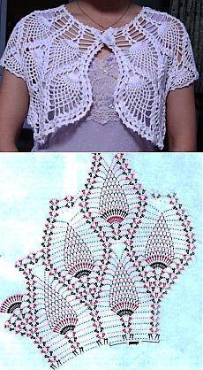 Beautiful white crochet bolero.