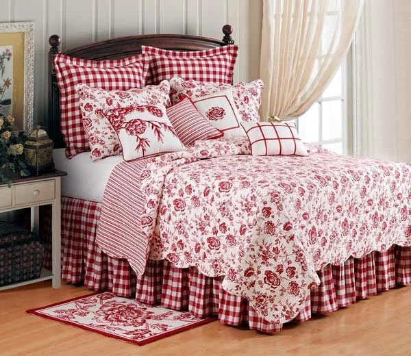 Christmas Quilt Sets Toile And Country Houses