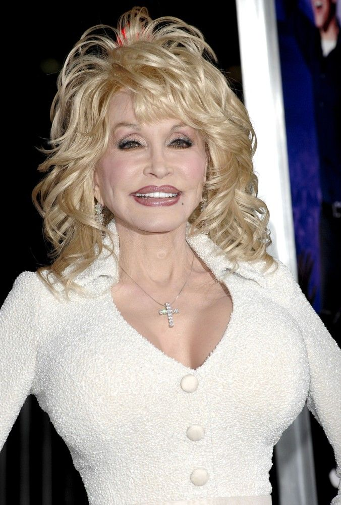 Dolly Parton, a popular country music singer. Country music is an American genre of music.
