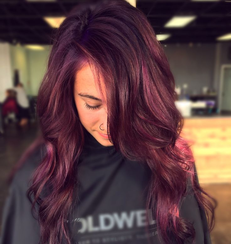 Its A Mulberrypurple Color Alert A Stunning New Hair Color