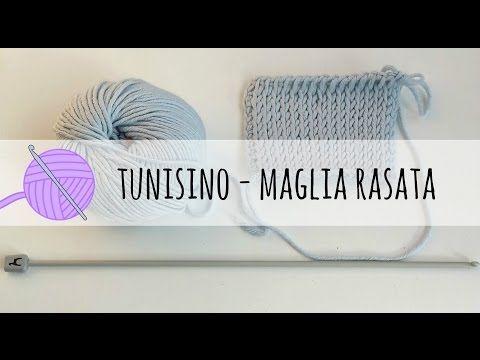 Uncinetto tunisino: come fare punto maglia rasata - Tutorial in italiano