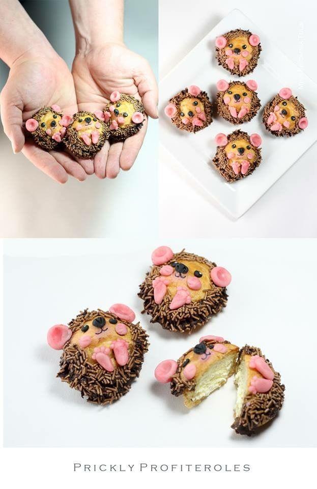 Egel hedgehog cupcakes