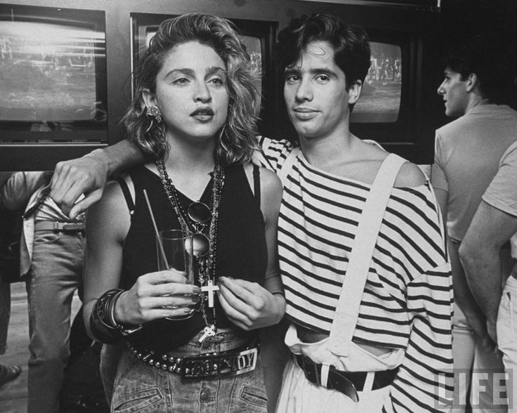 Madonna and Jellybean Benitez at a New York club in the mid 80s : OldSchoolCoolMusic