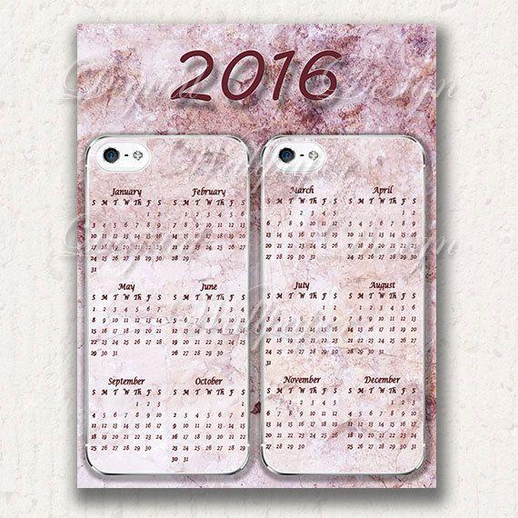 Printable Calendar 2016Wall CalendarHome by DigitalDesignPaper